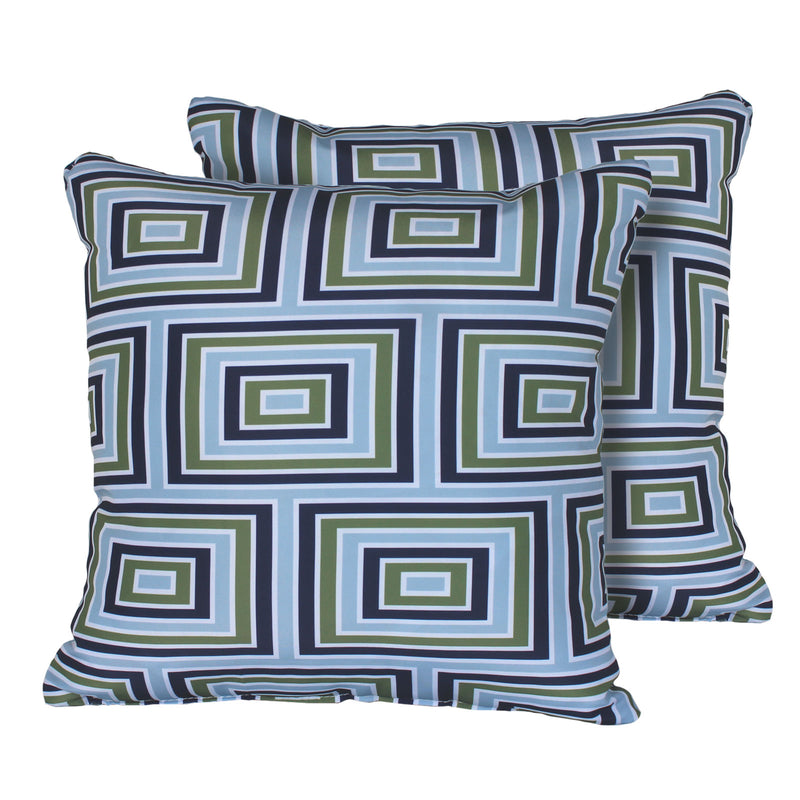 Kathy Ireland Homes & Gardens Atrium Pillow in Forest Square Set of 2