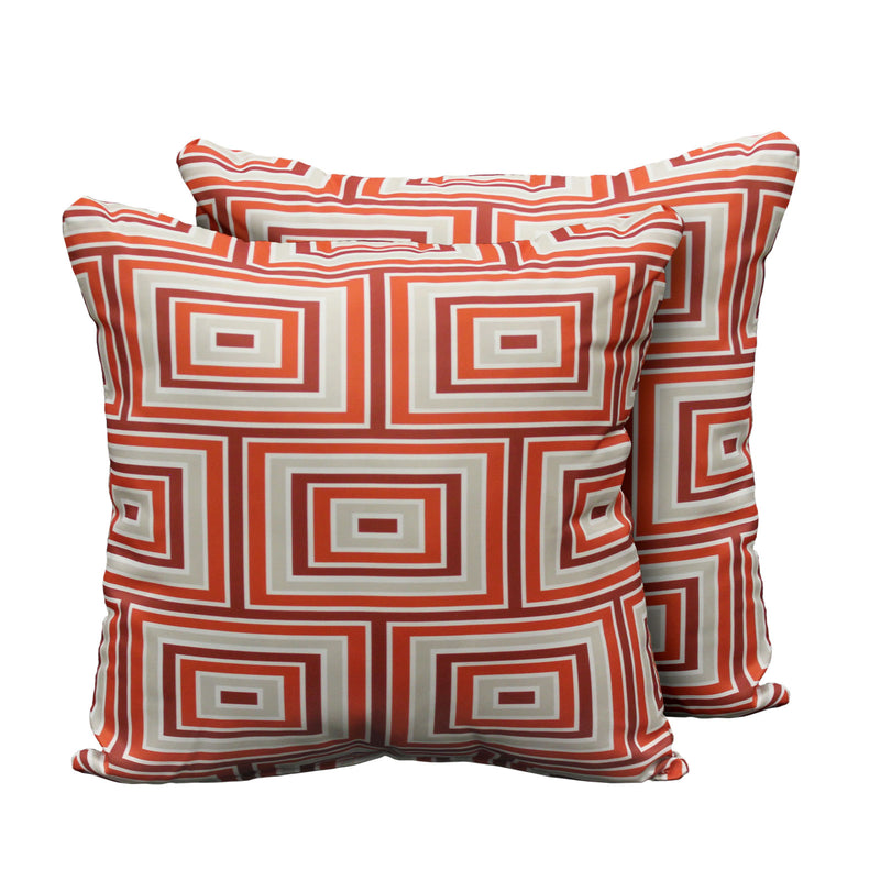 Kathy Ireland Homes & Gardens Atrium Pillow in Persimmon Square Set of 2