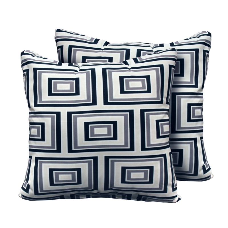 Kathy Ireland Homes & Gardens Atrium Pillow in Slate Square Set of 2