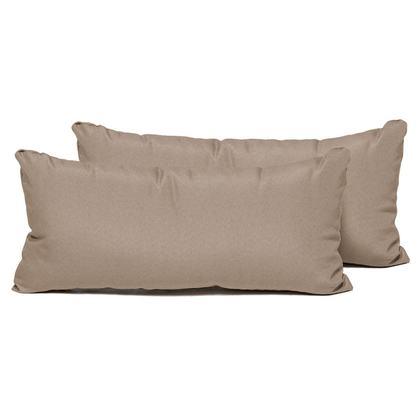 Wheat Outdoor Throw Pillows Rectangle Set of 2