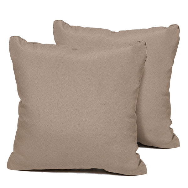 Wheat Outdoor Throw Pillows Square Set of 2