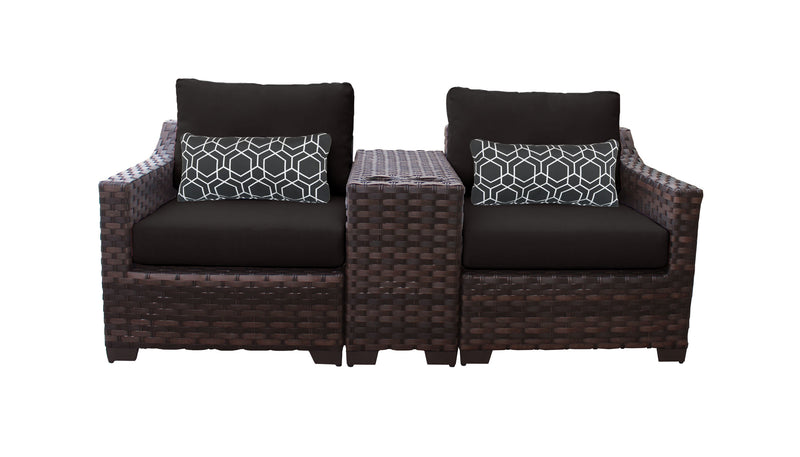 Kathy Ireland Homes & Gardens River Brook 3 Piece Outdoor Wicker Patio Furniture Set 03b