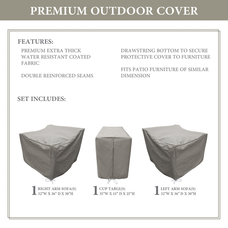 Kathy Ireland Homes & Gardens RIVER-03b Protective Cover Set