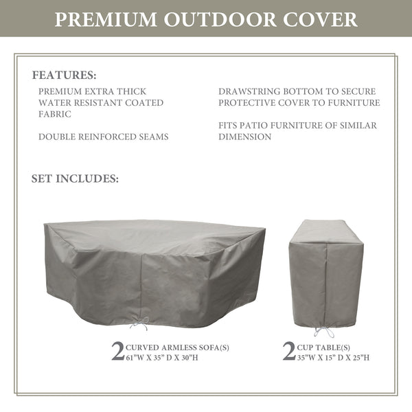 Kathy Ireland Homes & Gardens RIVER-04a Protective Cover Set