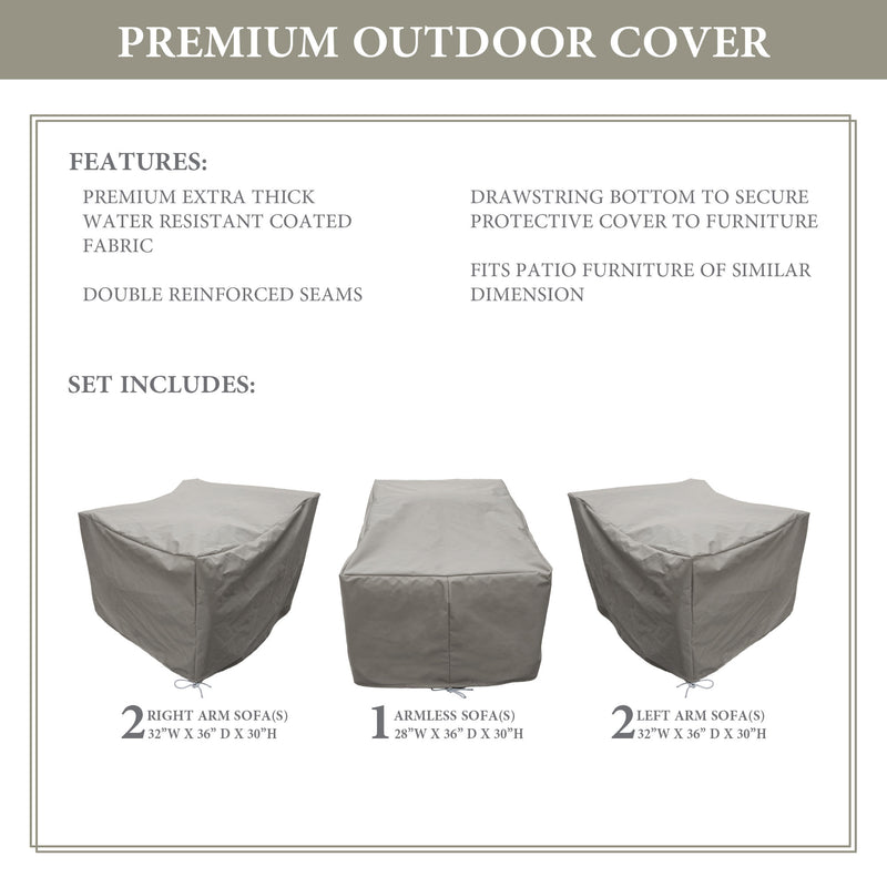 Kathy Ireland Homes & Gardens RIVER-05a Protective Cover Set