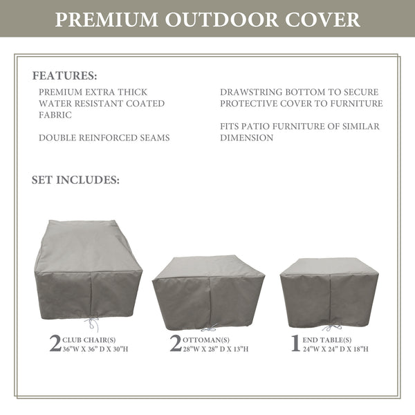 Kathy Ireland Homes & Gardens RIVER-05b Protective Cover Set