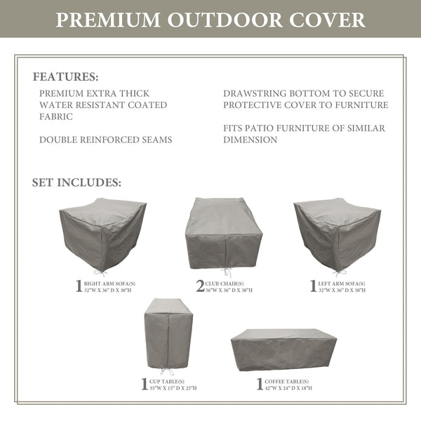 Kathy Ireland Homes & Gardens RIVER-06a Protective Cover Set