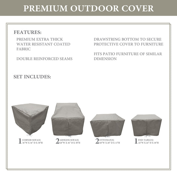Kathy Ireland Homes & Gardens RIVER-06b Protective Cover Set