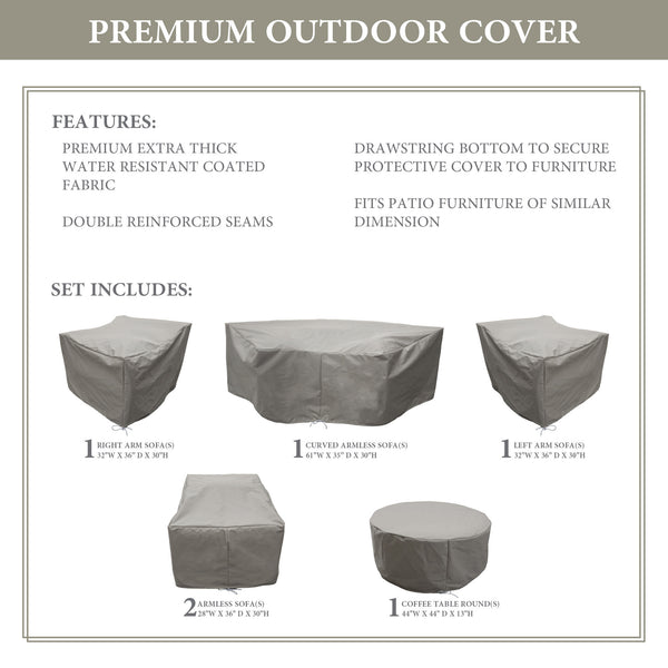 Kathy Ireland Homes & Gardens RIVER-06h Protective Cover Set