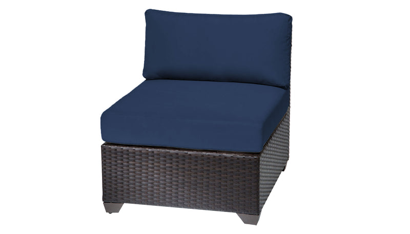 Barbados Armless Sofa Outdoor Wicker Patio Furniture