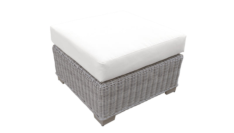 Coast HDPE Wicker Ottoman with Cushion