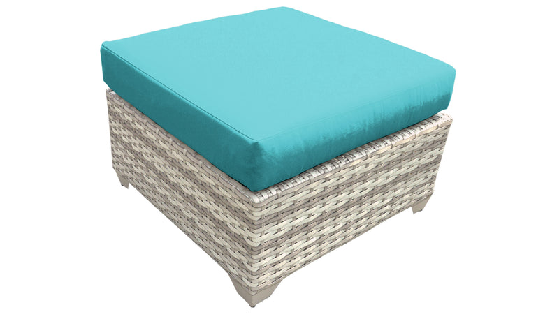 Fairmont HDPE Wicker Ottoman with Cushions