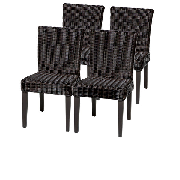 4 Venice Armless Dining Chairs Without Cushions