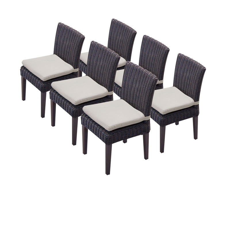 6 Venice Armless Dining Chairs