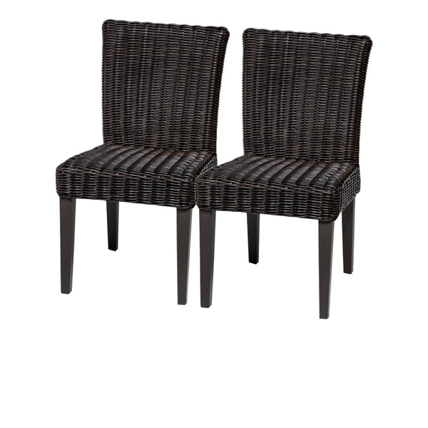 2 Venice Armless Dining Chairs Without Cushions