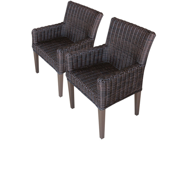 2 Venice Dining Chairs With Arms Without Cushions