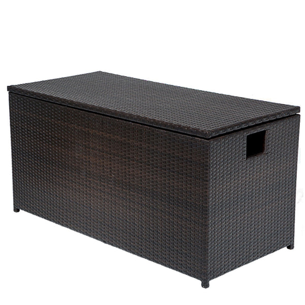 Outdoor Wicker Patio Storage Chest