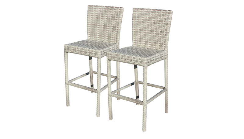 Fairmont Bar Table Set With Barstools 7 Piece Outdoor Wicker Patio Furniture