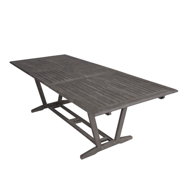 LATA Outdoor Patio Hand-scraped Wood Rectangular Extension Table with Foldable Butterfly