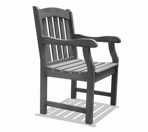 LATA Outdoor Patio Hand-scraped Wood Garden Armchair