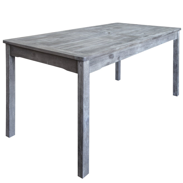 LATA Outdoor Rectangular Hand-scraped Wood Patio Dining Table