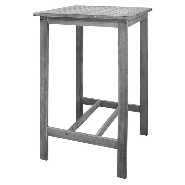 LATA Outdoor Patio Hand-scraped Wood Bar Table