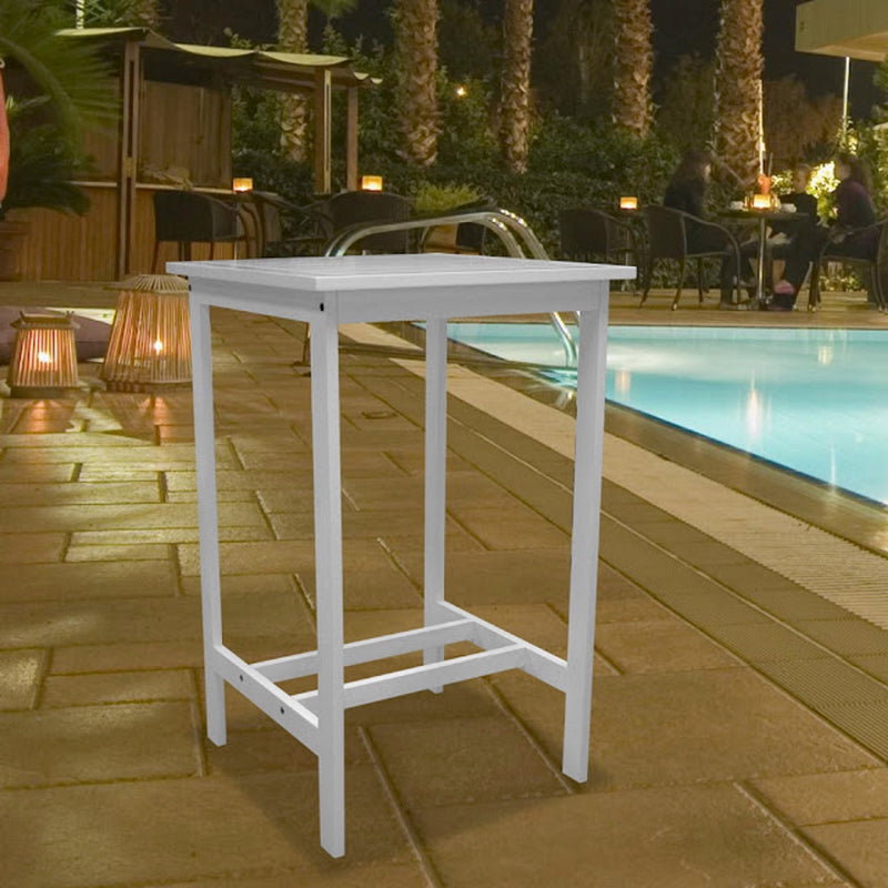 AUKI Outdoor Bar Table in White