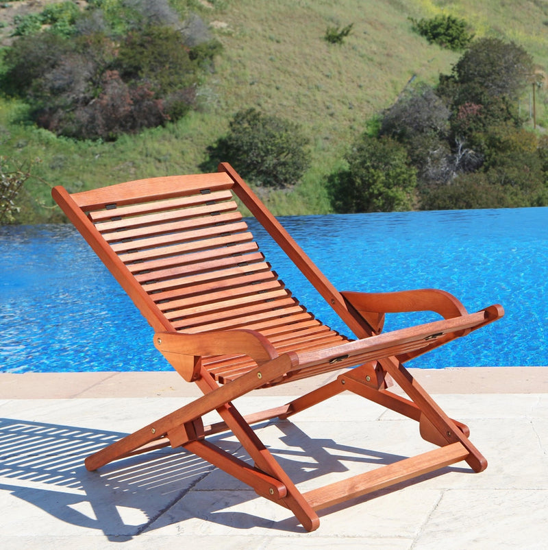 NORO Outdoor Wood Folding Lounge