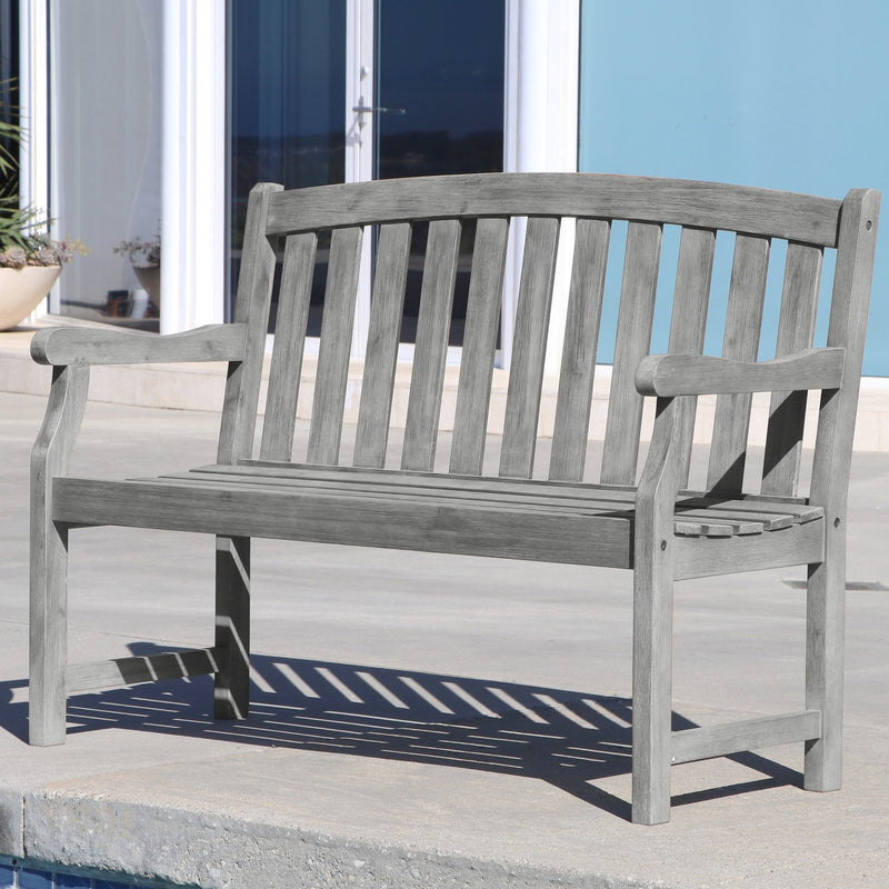 LATA Outdoor Patio 4-foot  Hand-scraped Wood Garden Bench