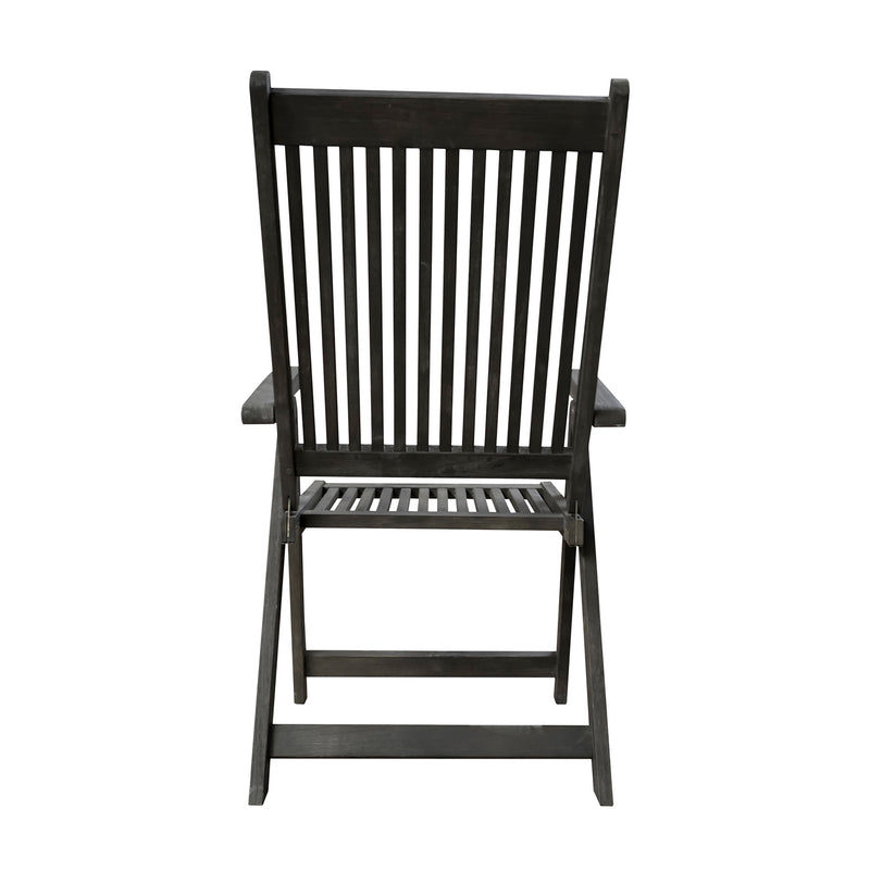 LATA Outdoor Patio Hand-scraped Wood 5-Position Reclining Chair