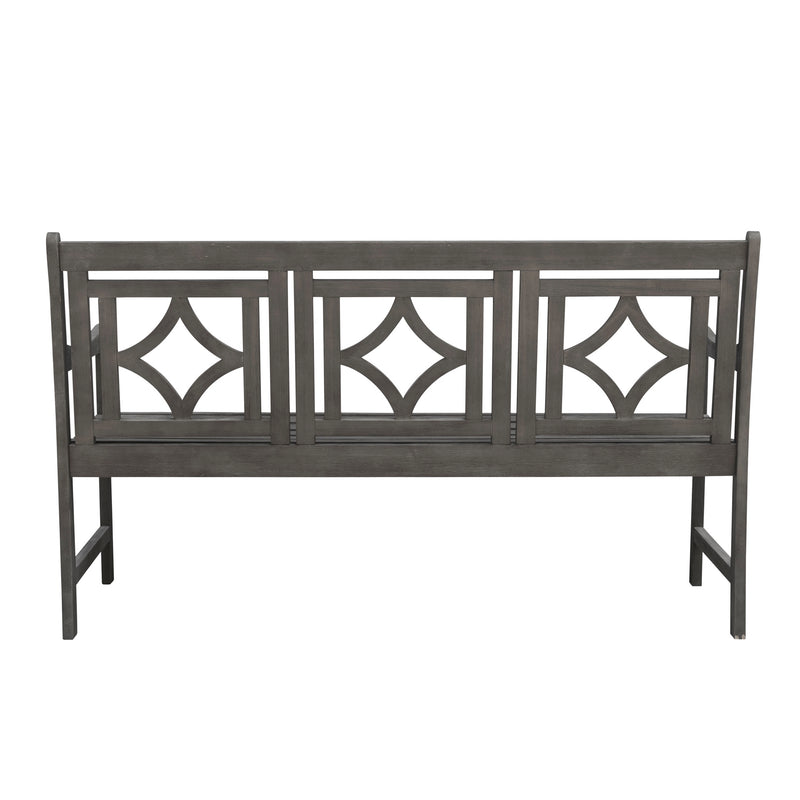 LATA Outdoor Patio Diamond 5-foot Hand-scraped Hardwood Bench