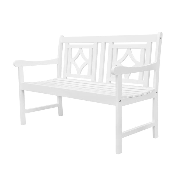 AUKI Outdoor Patio Diamond 4-foot Bench