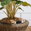 Ocala 16 x 16 x 16 Curved Oval Wicker Smart Self-Watering Planter in Mocha