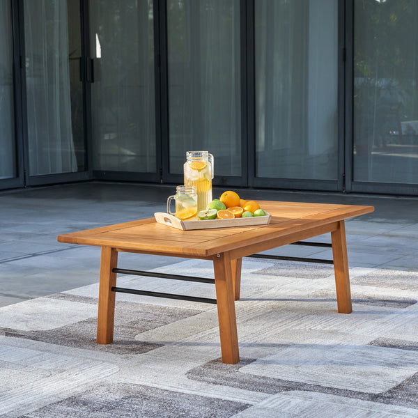 REWA Contemporary Patio Wood Sofa Table