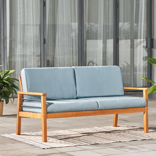 REWA Contemporary Patio Wood 2-Seater Sofa