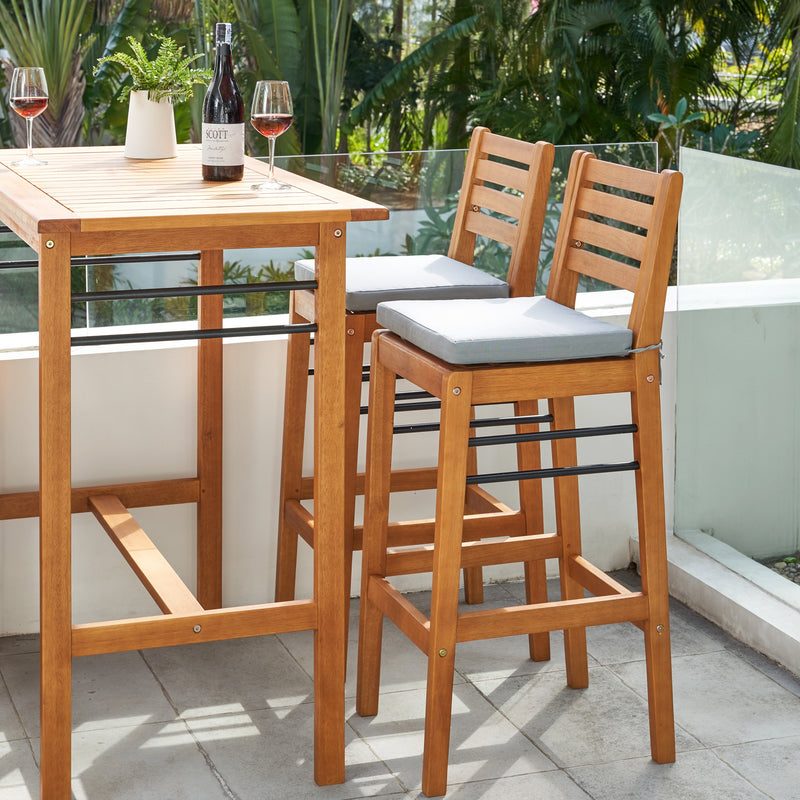 REWA Teak-like 5-Piece Counter-Height Dining Set