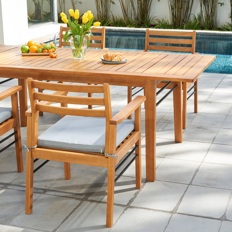 REWA Teak-like 5-Piece Dining Set