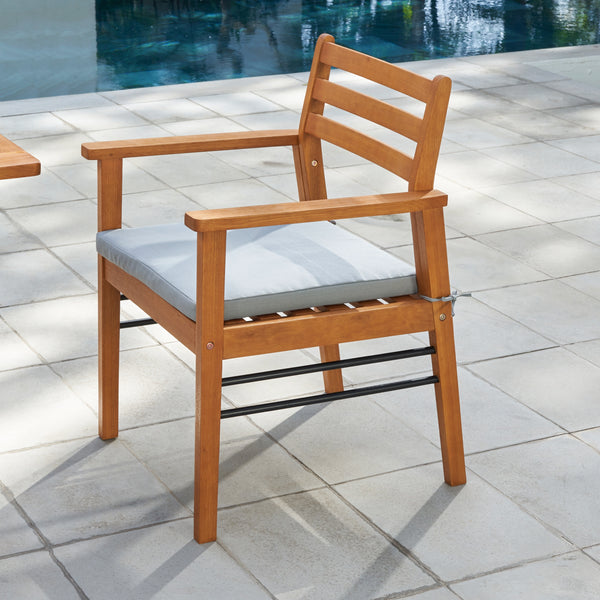 REWA Contemporary Patio Wood Dining Chair