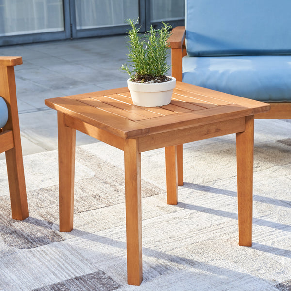 REWA Contemporary Patio Wood Side Table