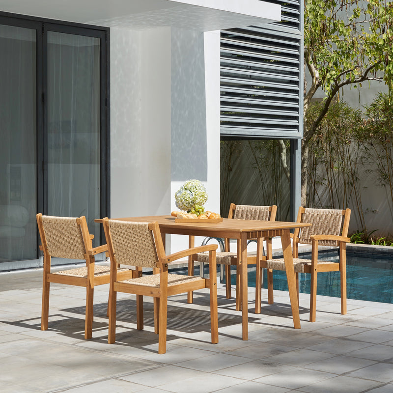 RATU  Outdoor Natural 5-Piece Wood Dining Set