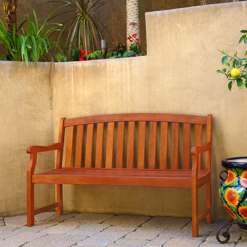 NORO Outdoor Patio 5-foot Wood Garden Bench
