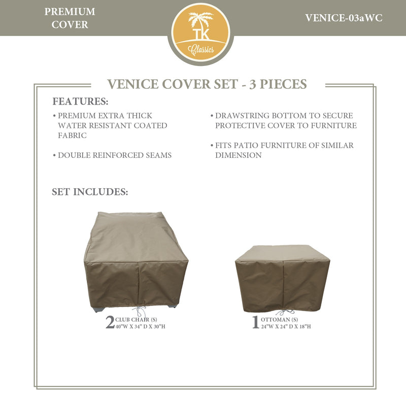 VENICE-03a Protective Cover Set, in Beige
