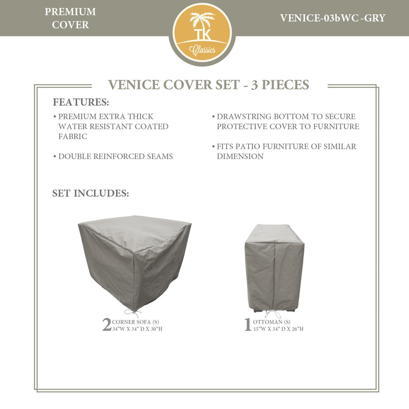 VENICE-03b Protective Cover Set, in Grey