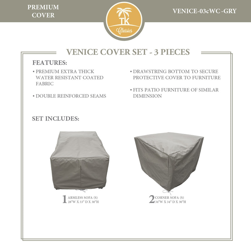 VENICE-03c Protective Cover Set, in Grey