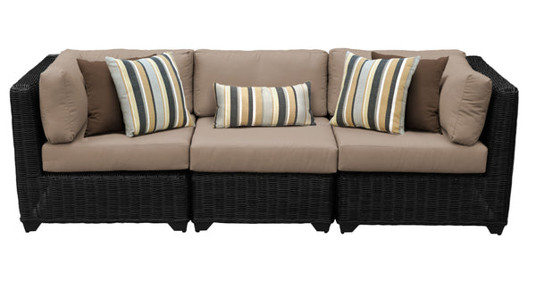 Venice 3 Piece Outdoor Wicker Patio Furniture Set 03c