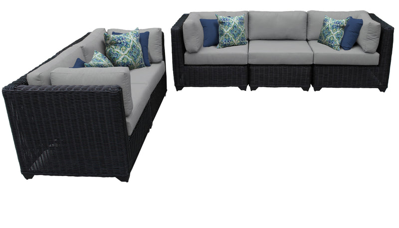 Venice 5 Piece Outdoor Wicker Patio Furniture Set 05b