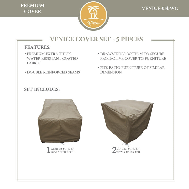 VENICE-05b Protective Cover Set, in Beige