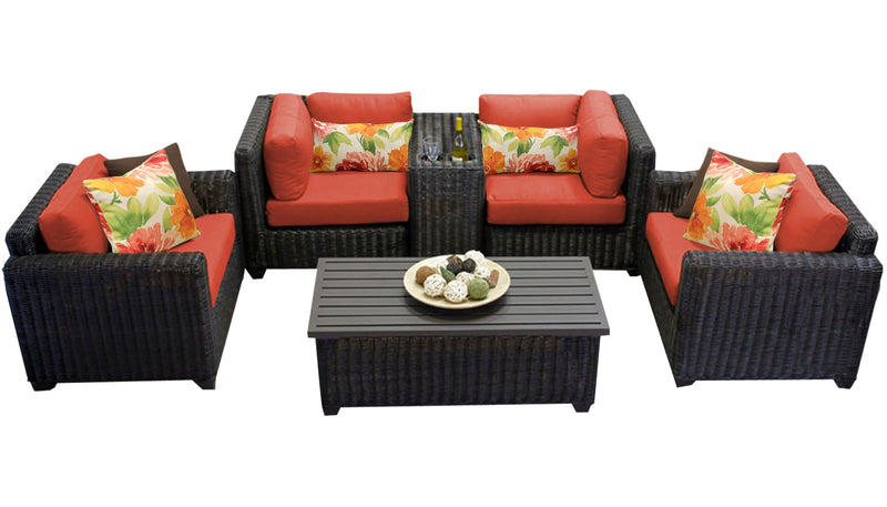 Venice 6 Piece Outdoor Wicker Patio Furniture Set 06a