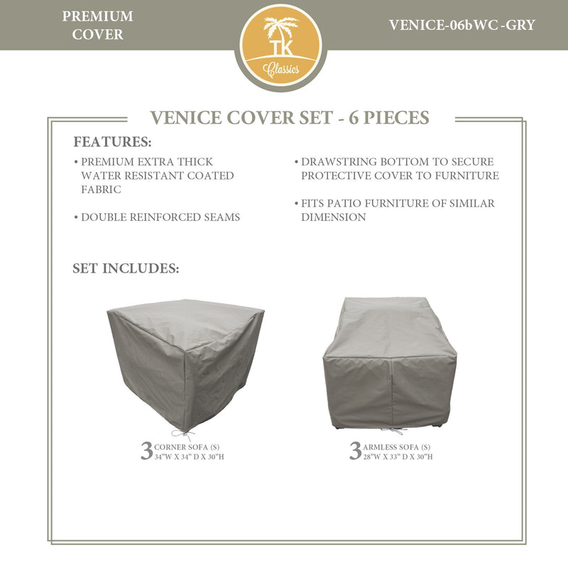 VENICE-06b Protective Cover Set, in Grey