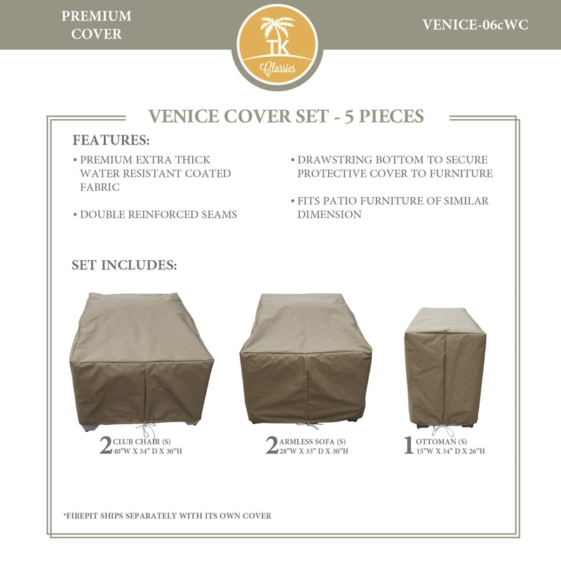 VENICE-06c Protective Cover Set, in Beige